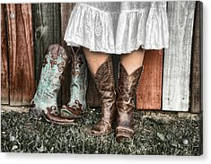 Boots X 2 Acrylic Print