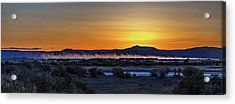 Acrylic Print featuring the photograph Borax Lake At Sunrise by Cat Connor