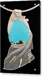 Bord De Mer Or Sea Shore Necklace Acrylic Print by Marie-Claire Dole