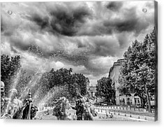 Bordeaux Fountains In The Park Acrylic Print