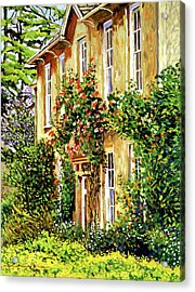 Bordeaux Garden House Acrylic Print by David Lloyd Glover