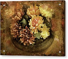 Bordered Mums Acrylic Print by Jessica Jenney