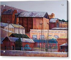 Borderland Mills Acrylic Print by Candy Mayer
