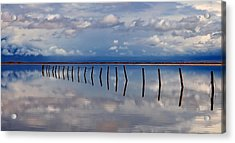 Borderline - Reflections Of Earth Acrylic Print by Steven Milner