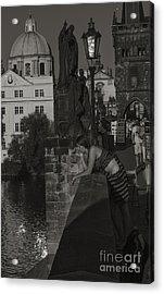 Bored Prague Vendor Acrylic Print