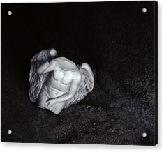 Borken Angel Acrylic Print by Ann Tracy