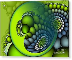 Born To Be Green Acrylic Print by Jutta Maria Pusl