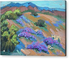Acrylic Print featuring the painting Borrego Springs Verbena by Diane McClary