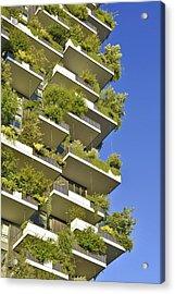 Bosco Verticale Green Facade Acrylic Print