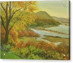 Boscobel View Autumn Acrylic Print by Phyllis Tarlow