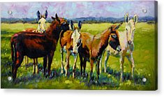 Acrylic Print featuring the painting Bosom Buddies by Chris Brandley