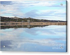 Acrylic Print featuring the photograph Bosque Desert Lake by Andrea Hazel Ihlefeld