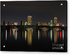 Boston Skyscrappers Behind Bridge Acrylic Print