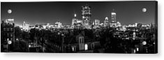Boston After Dark Acrylic Print by Andrew Kubica