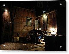Boston Alley Acrylic Print by Steven W Rand