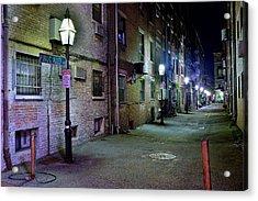 Boston Alleyway Acrylic Print by Frozen in Time Fine Art Photography