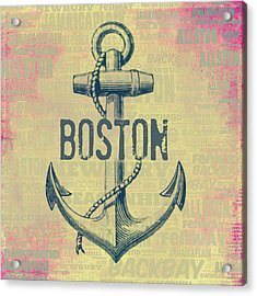 Boston Anchor Center Acrylic Print