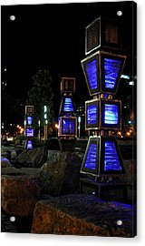 Boston At Night 2 Acrylic Print by Andrew Dinh