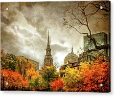 Boston Autumn Splendor Acrylic Print by Joann Vitali