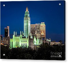 Boston Avenue Methodist Church At Twilight Acrylic Print