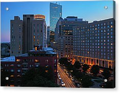 Acrylic Print featuring the photograph Boston Back Bay Park Plaza Hotel  by Juergen Roth