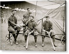 Boston Baseball Players   Gowdy, Tyler, Connolly Acrylic Print by American School