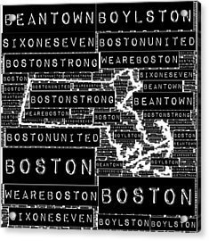 Boston Black And White Acrylic Print