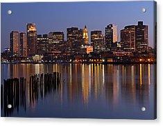 Boston By Night Acrylic Print