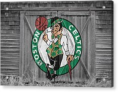 Boston Celtics Barn Doors 2 Acrylic Print by Joe Hamilton