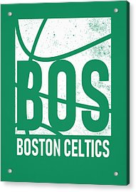 Boston Celtics City Poster Art Acrylic Print