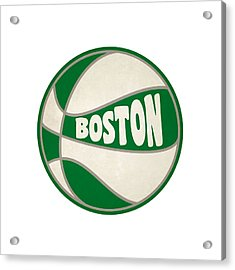 Boston Celtics Retro Shirt Acrylic Print by Joe Hamilton