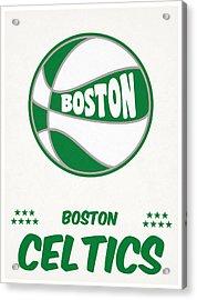 Boston Celtics Vintage Basketball Art Acrylic Print