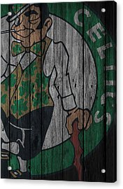Boston Celtics Wood Fence Acrylic Print by Joe Hamilton