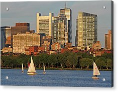 Boston Charles River Sailing Acrylic Print by Juergen Roth