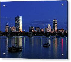 Boston City Lights Acrylic Print by Juergen Roth