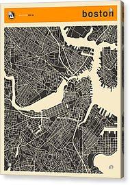 Boston Map Acrylic Print