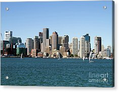 Boston City Skyline Acrylic Print