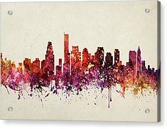 Boston Cityscape 09 Acrylic Print by Aged Pixel
