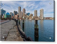 Boston Cityscape From The Seaport District 3 Acrylic Print