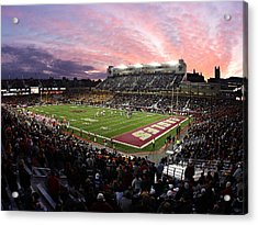 Boston College Alumni Stadium Acrylic Print by John Quackenbos