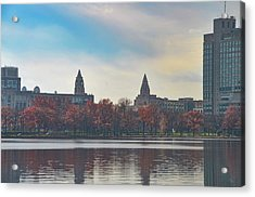 Boston College From The Charles River Acrylic Print by Bill Cannon