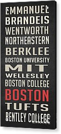 Boston Collegetown Acrylic Print by Edward Fielding