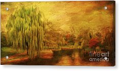 Boston Common In Autumn Acrylic Print by Liz Leyden