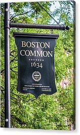 Boston Common Sign Photo Acrylic Print