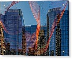 Boston Facade Reflections Acrylic Print