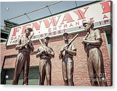 Boston Fenway Park Sign Gate B Statues Acrylic Print