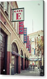 Boston Fenway Park Sign Gate E Entrance Acrylic Print by Paul Velgos