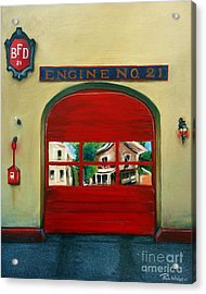 Boston Fire Engine 21 Acrylic Print