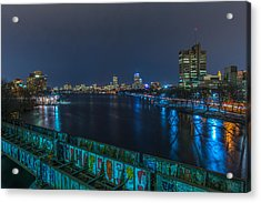 Boston From The Boston University Bridge Acrylic Print