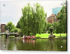Boston Garden Swan Boat Acrylic Print